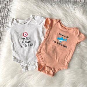 (🌼3/$20🌼) 2 x cute baby onesies